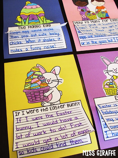 A TON of fun Easter writing activities that are no prep crafts and other fun ideas