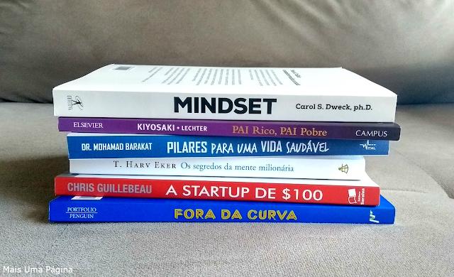 Livros sobre economia, investimento e saúde