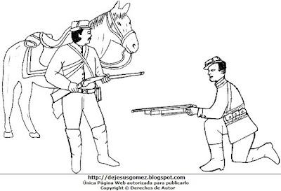 Dibujo de la Batalla de Tarapacá para colorear pintar imprimir. Dibujo de la Batalla de Tarapacá hecho por Jesus Gómez