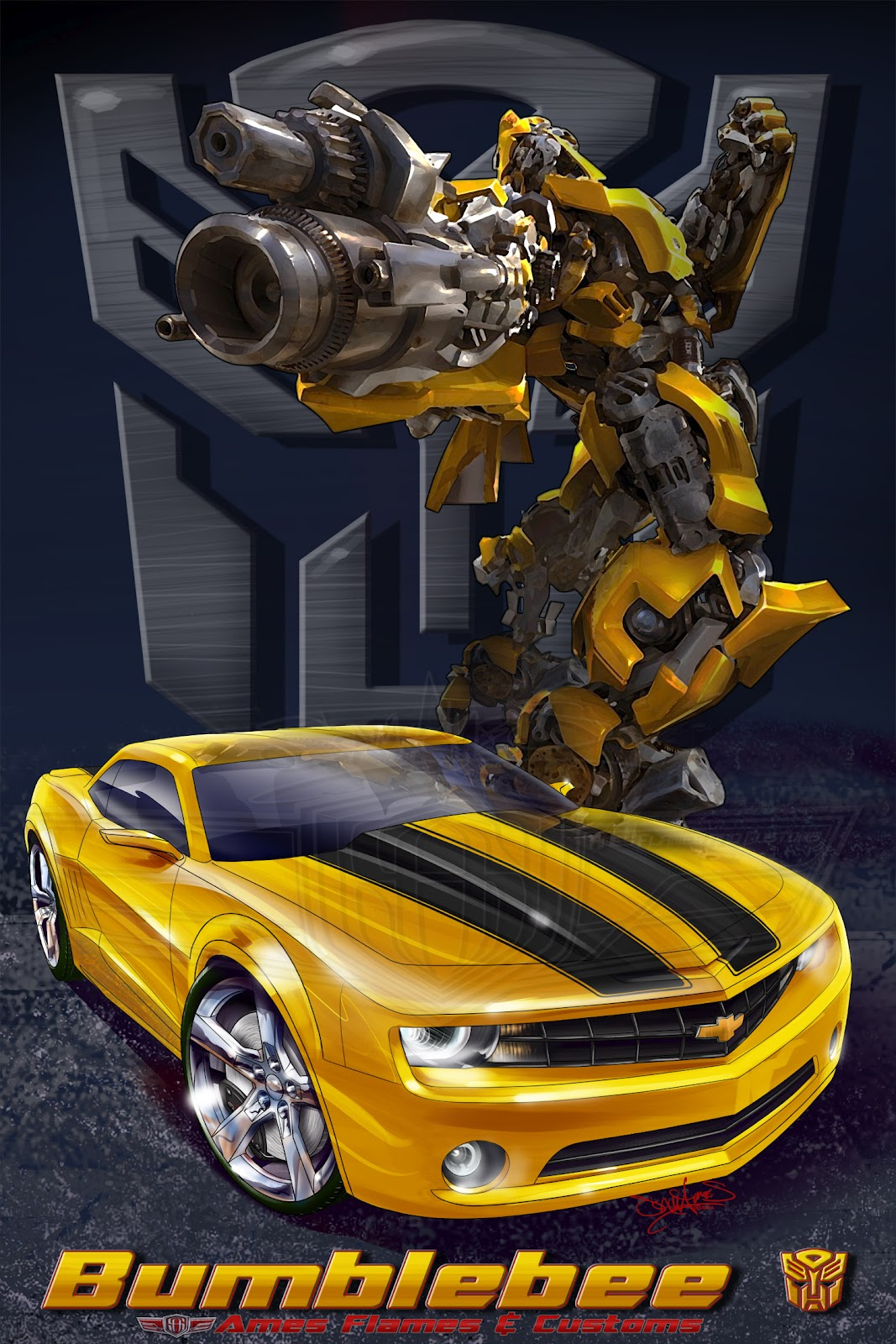 The Car Movie 1977 Wallpaper Sam Ames Transformers Bumblebee Old And New 1977 Camaro