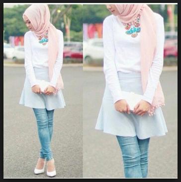 Model fashion hijab untuk wajah bulat