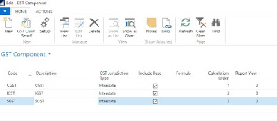 GST Component in Dynamics NAV