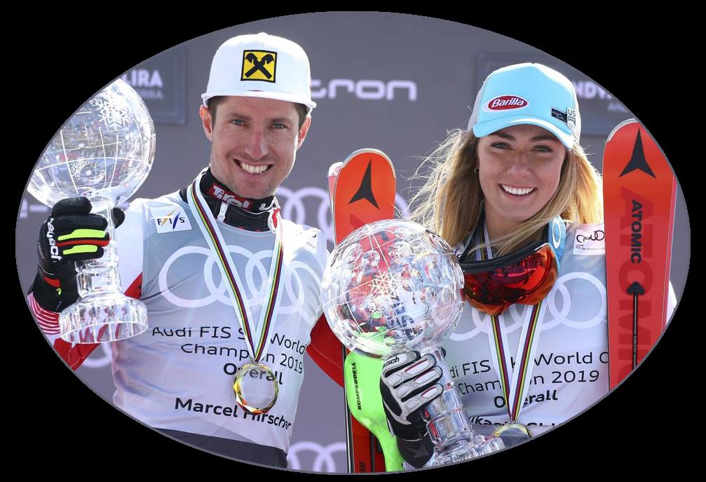 Marcel Hirscher, Mikaela Shiffrin - Andorra 2019