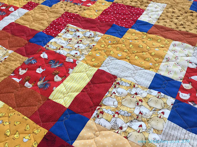 Chicken Quilt, made by Ruth for Project Linus