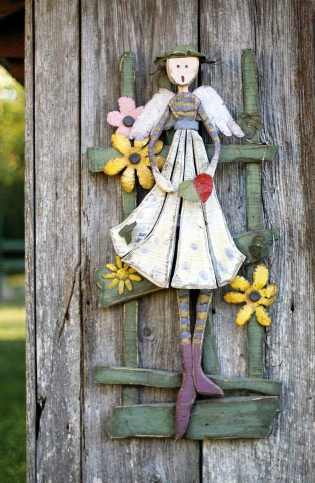 folk wood angel