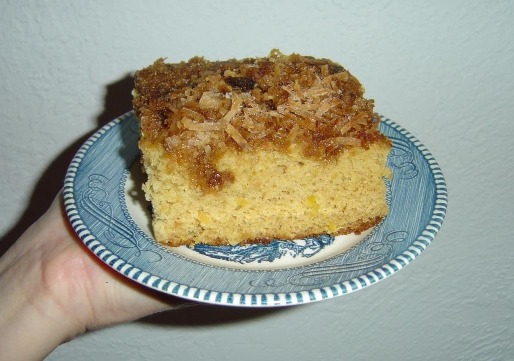 Piece of Pineapple Yum Yum Cake on a Plate Image