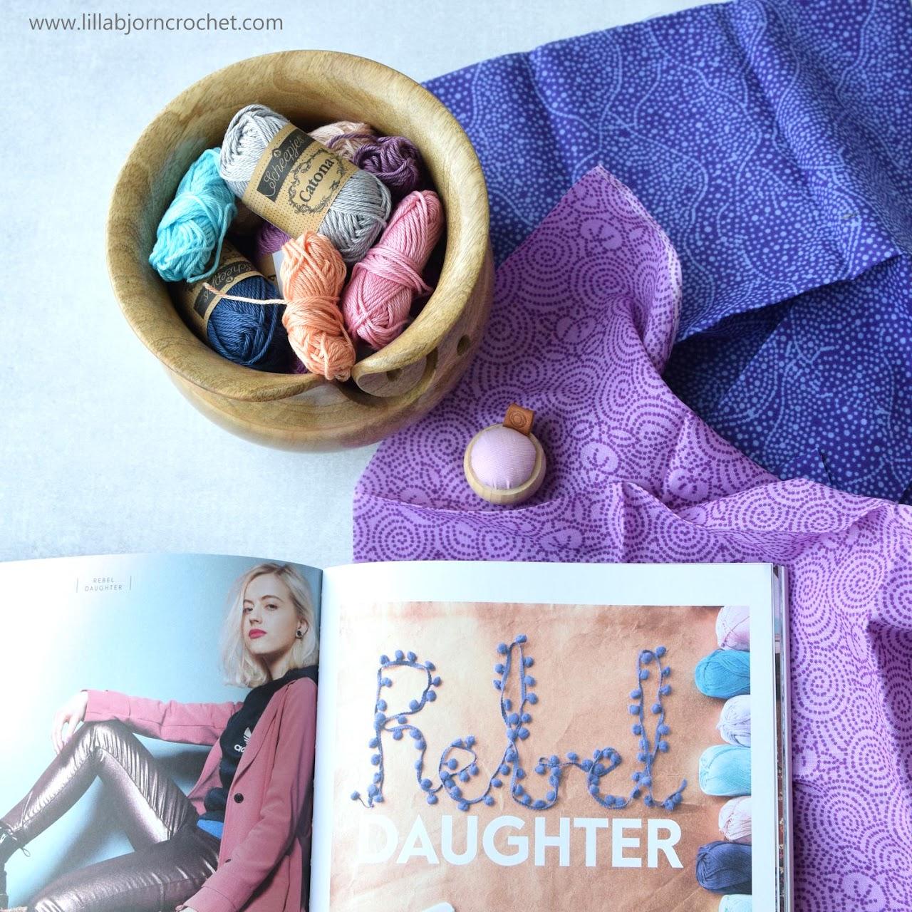 Techno Clutch tapestry crochet pattern - YARN 5 book-a-zine by Scheepjes - www.lillabjorncrochet.com