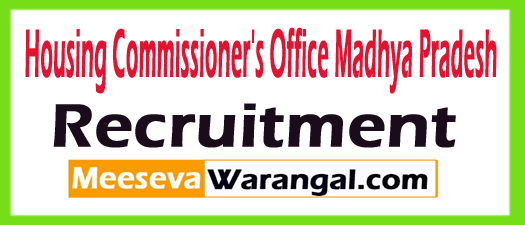 Housing Commissioner's Office Madhya Pradesh Recruitment
