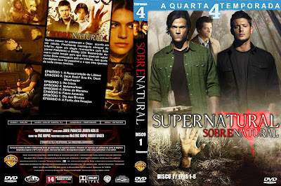 Sobrenatural 4º Temporada DVD Capa
