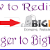 How t o Redirect Blogger Sub Domain To BigRock .com, .net Domain