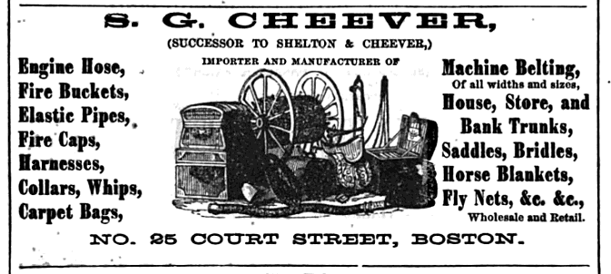 Old Ads Are Funny: 1868 ad: S.G. Cheever, Machine Belting