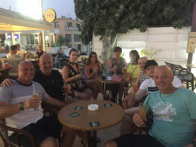 family and friends on holiday in Cyprus