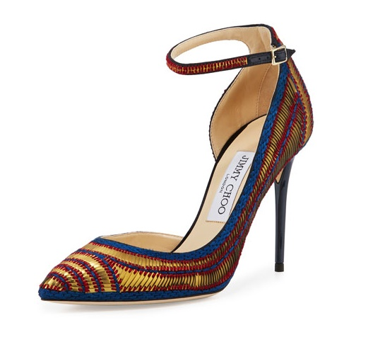Jimmy Choo Lucy Sequined Half  Dorsay Pump