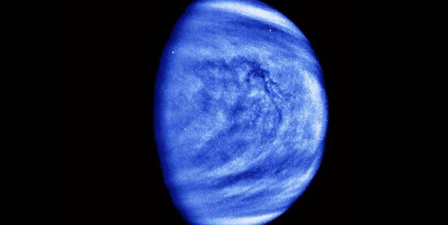 Venus seen in ultraviolet light. Credit: NASA
