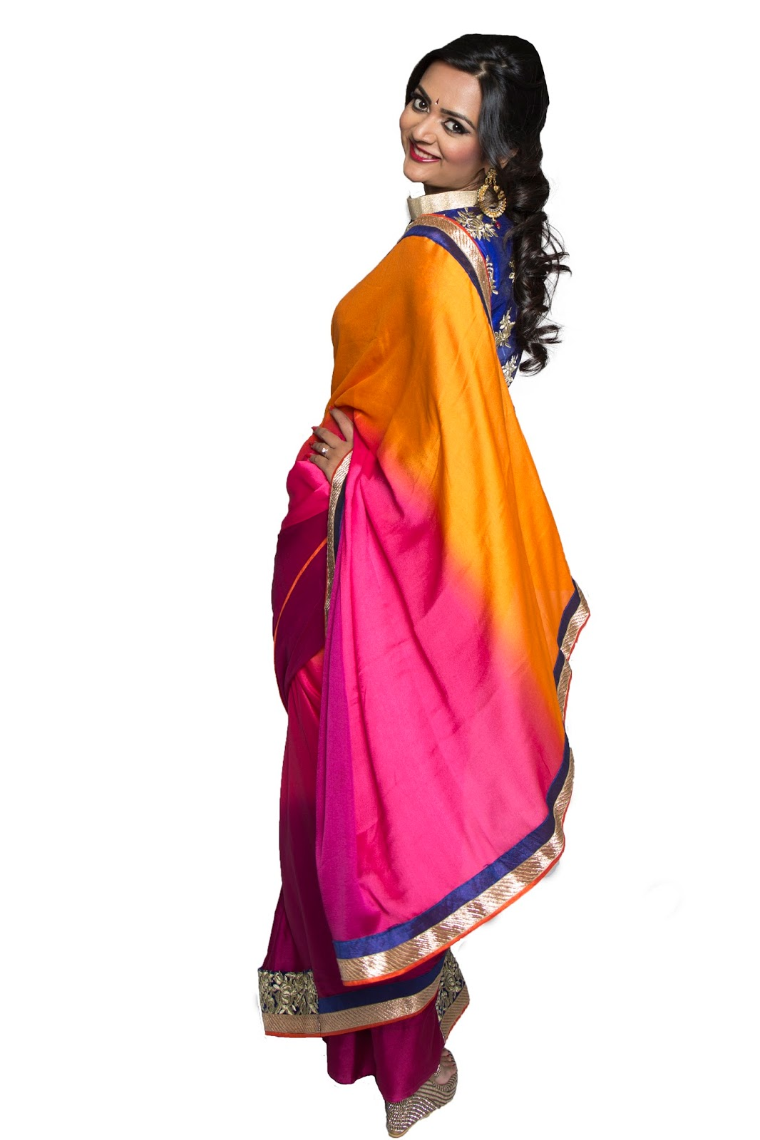 Designer Blouses with plain Sarees , seattle store for indian clothes, indian wear in seattle, seattle fashion blogger, seattle indian model