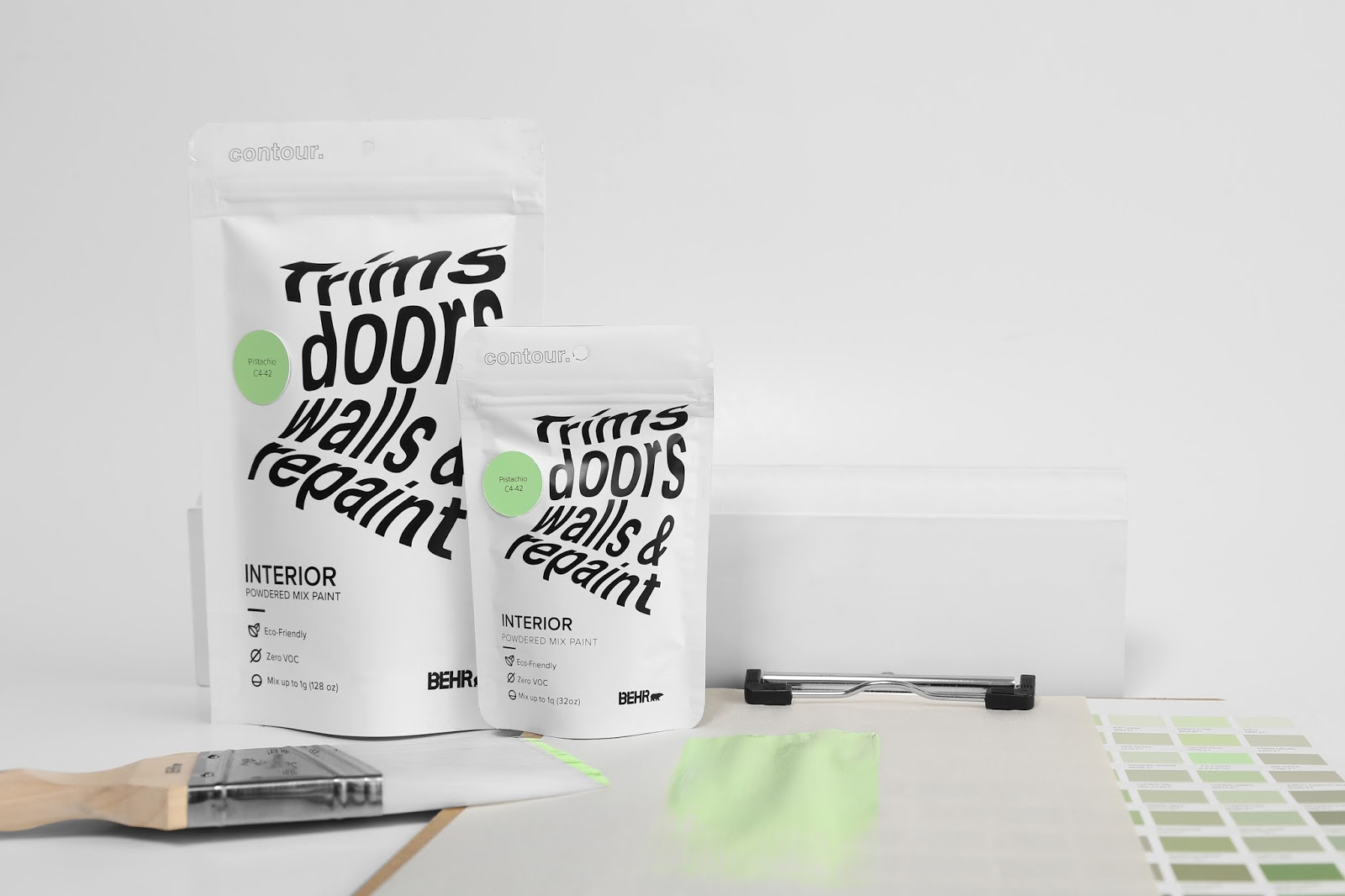 Contour Powdered Paint by Behr. (Student Project) on Packaging of ...