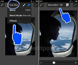 Cara edit foto terbaru naik pesawat