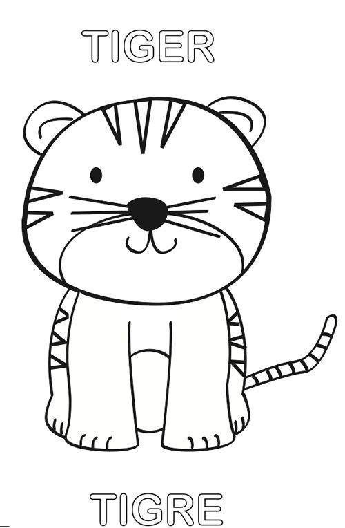 Tranh tô màu con hổ cho bé 5 tuổi