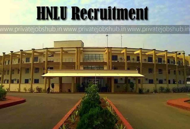 HNLU Recruitment