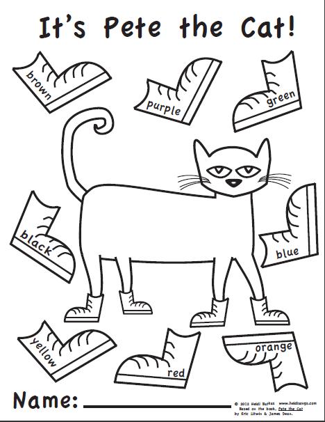 Pete The Cat Coloring Page - Democraciaejustica
