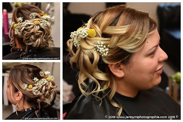 coiffure de mariée, chignon photo