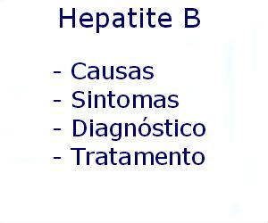 Hepatite B causas sintomas diagnóstico tratamento prevenção riscos complicações