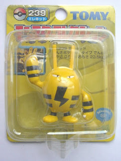 Elekid Pokemon figure Tomy Monster Collection yellow package series