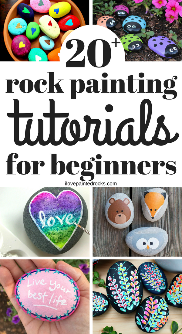 5125b217bf07 20+ Easy Rock Painting Ideas for Beginners - I Love Painted Rocks