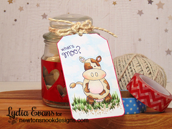 What's Moo Cow Tag by Lydia Evans | Farmyard Friends Stamp Set by Newton's Nook Designs