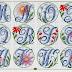 Abecedarios varios tipos de letras en punto de cruz
