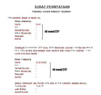 Contoh Surat Over Kredit Rumah Kpr Suratmenyuratnet