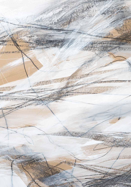 10 août 17 - acrylique et graphite sur papier Kraft © Annik Reymond