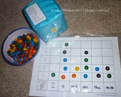 Little Learners Sight Word Graphing with MM\u0027s