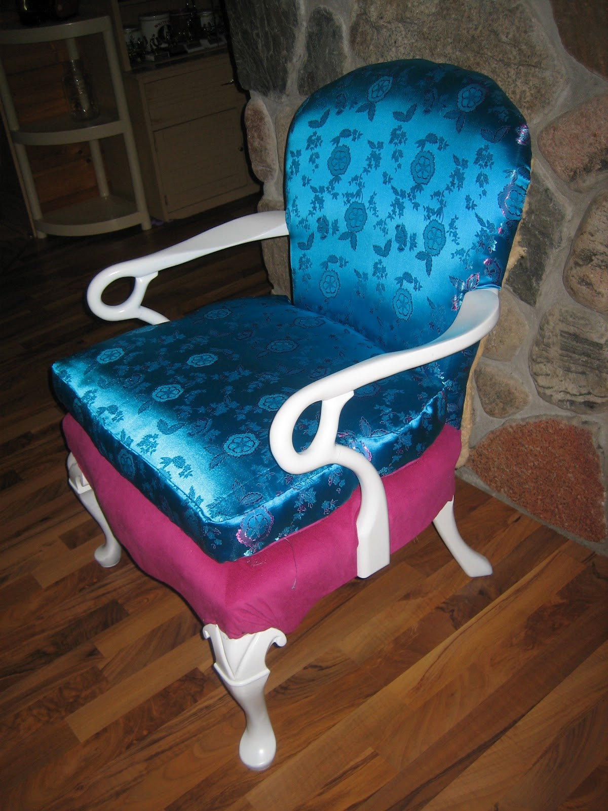 Hot Pink Office Chair Poang Cushion Macgirlver Makeover Turquoise And Desk