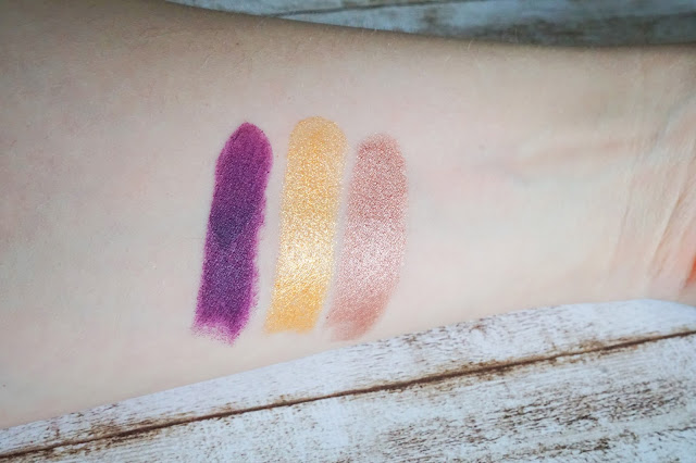 matt matt matt vibrant shock lipstick in 11 rave it up!    Metal Shock lipstick in 01 Iron Maiden Metal Shock lipstick in 08 Toxicity Swatch