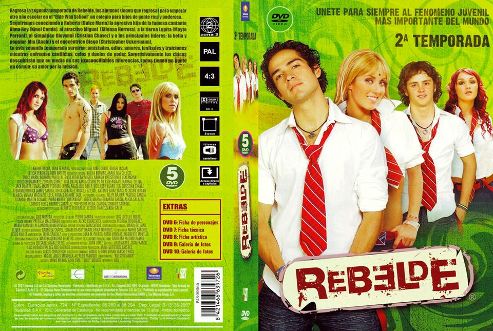 rebelde 2 temporada dvd-r
