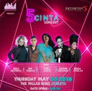 Cari tiket event 5 cinta concert di the pallas jakarta