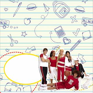 Para hacer invitaciones, tarjetas, marcos de fotos o etiquetas, para imprimir gratis de High School Musica.