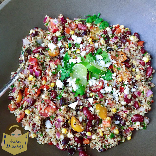 Menu Musings Of A Modern American Mom Southwestern Quinoa Salad