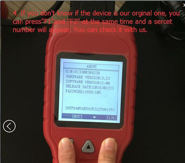 tell original OBDSTAR Tools from clone