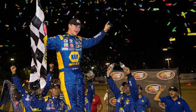 Todd Gilliland edged his Bill McAnally Racing teammate Chris Eggleston to win the Clint Newell Toyota 150 Presented by NAPA AUTO PARTS - #NASCAR #KNWest