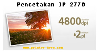 Pencetakan Printer Canon Ip2770