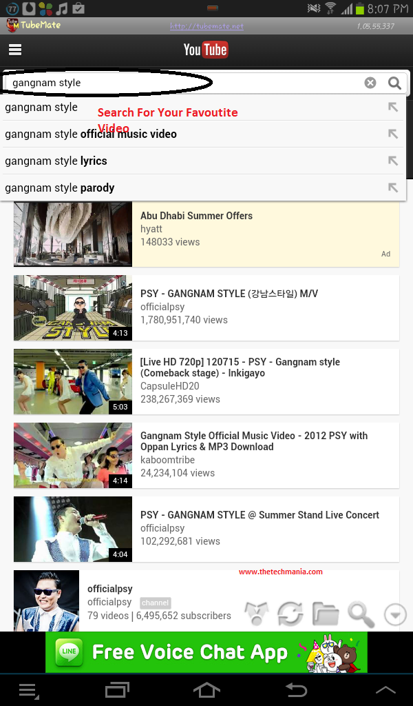 Search for video