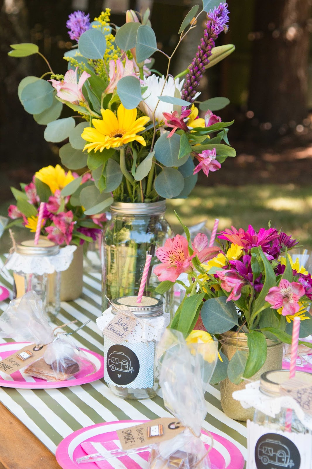 Glamping Birthday Party @craftsavvy @createoften #craftwarehouse #glamping #girl #birthday #party #diy
