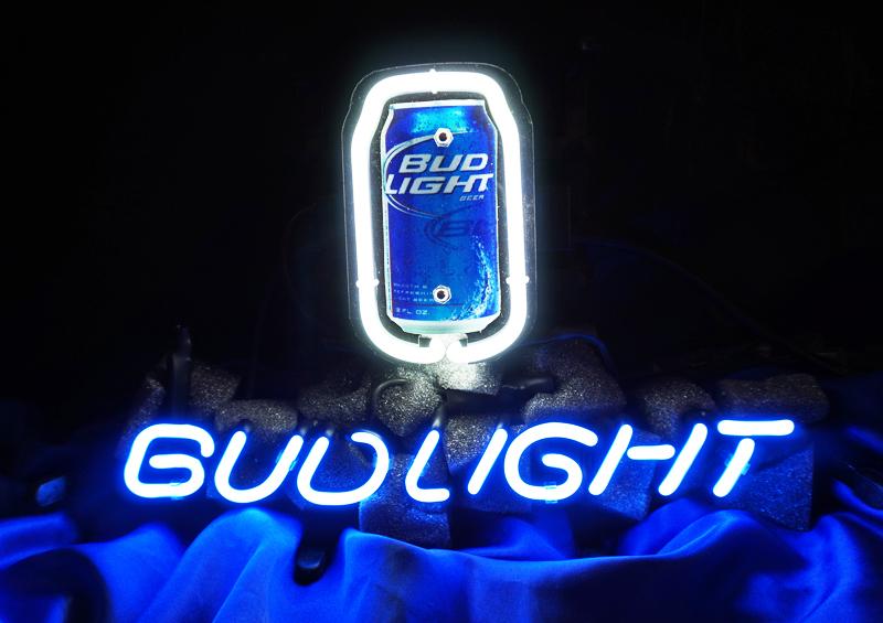Wiki Neon Sign Blog: BUD LIGHT CAN BUDWEISER BEER BAR NEON
