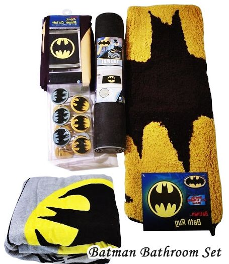 Batman bathroom set, Rug, Towel Acc