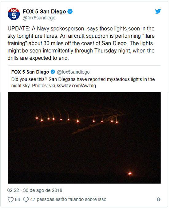 Luzes misteriosas filmadas sobre cidade nos EUA se espalham na internet - Tweet Oficia