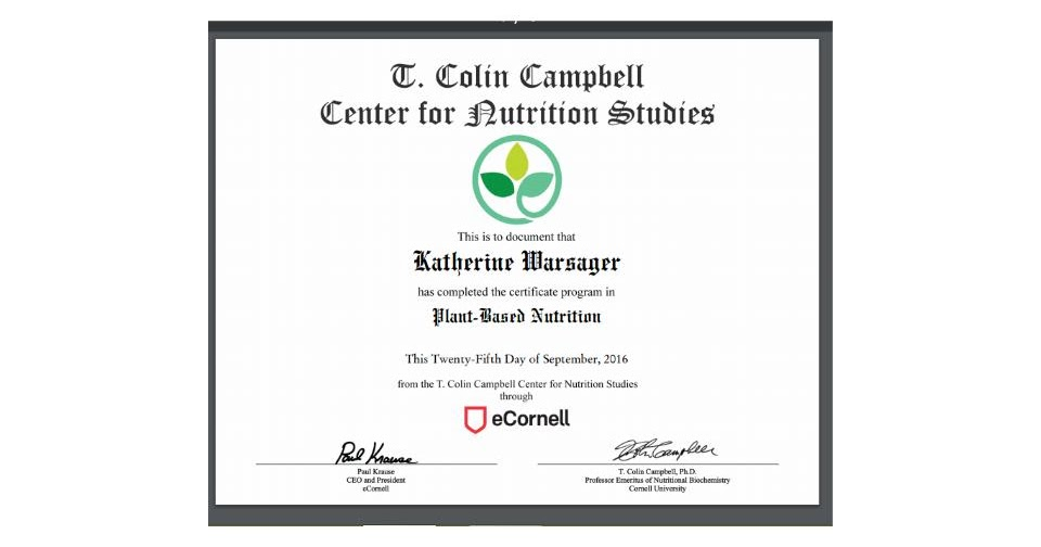 Living Peach Love Plantbased Nutrition Certification I Did It
