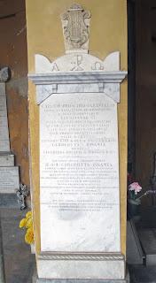 Farinelli's tomb at the Certosa cemetery in Bologna