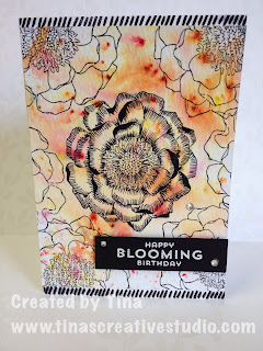 www.tinascreativestudio.com Blended Bloom birthday card